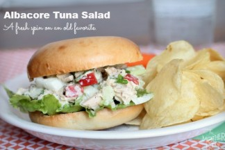 Albacore Tuna Salad with Apples, Celery and Onions