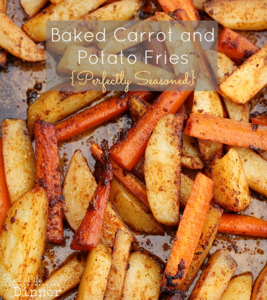 Baked Carrot and Potato Fries