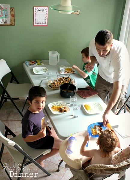 Real Life Family Dinner