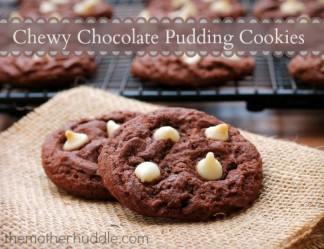 Chewy Chocolate Pudding Cookies with White Chocolate Chips {TMH}