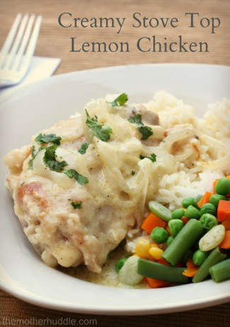 Creamy Stove Top Lemon Chicken {TMH}