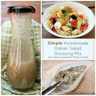 Homemade Italian Salad Dressing Mix {How To Post}