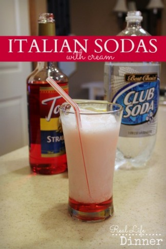Italian Sodas with Cream