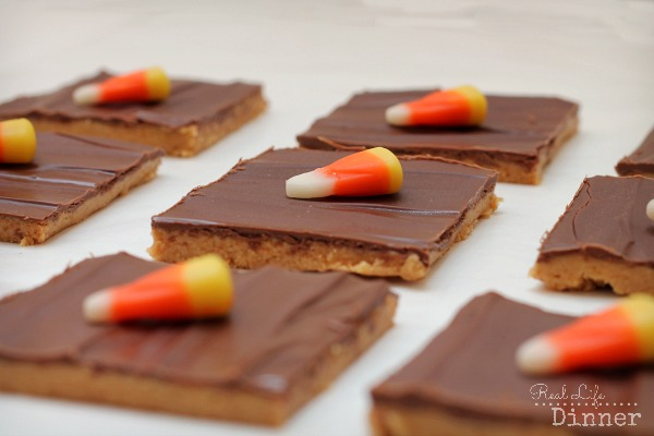 Peanut Butter Bars Candy Corn
