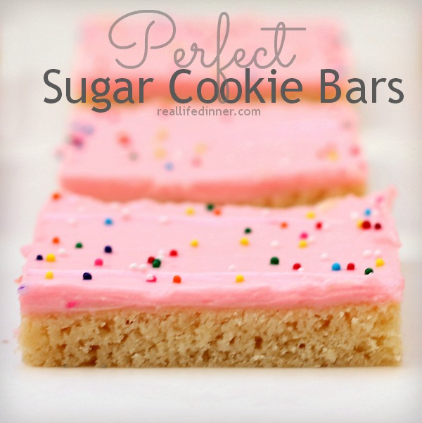 Perfect Sugar Cookie Bars cu