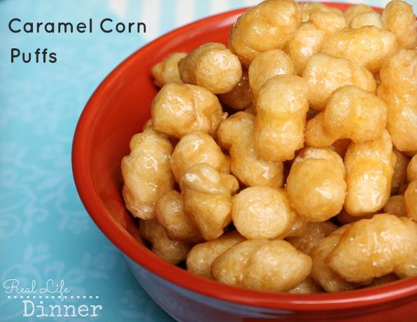 Caramel Corn Puffs Hands Down The Best Treat Ever
