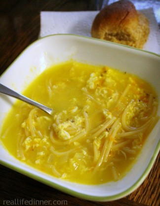 What's for Dinner {October 10, 2013} Egg Spaghetti Soup