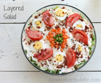 Layered Salad {The Dressing is DELISH!} {TMH}