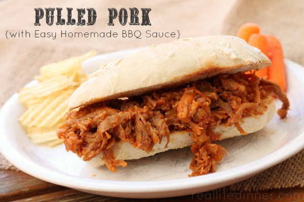 Pulled Pork With Easy Homemade Bbq Sauce