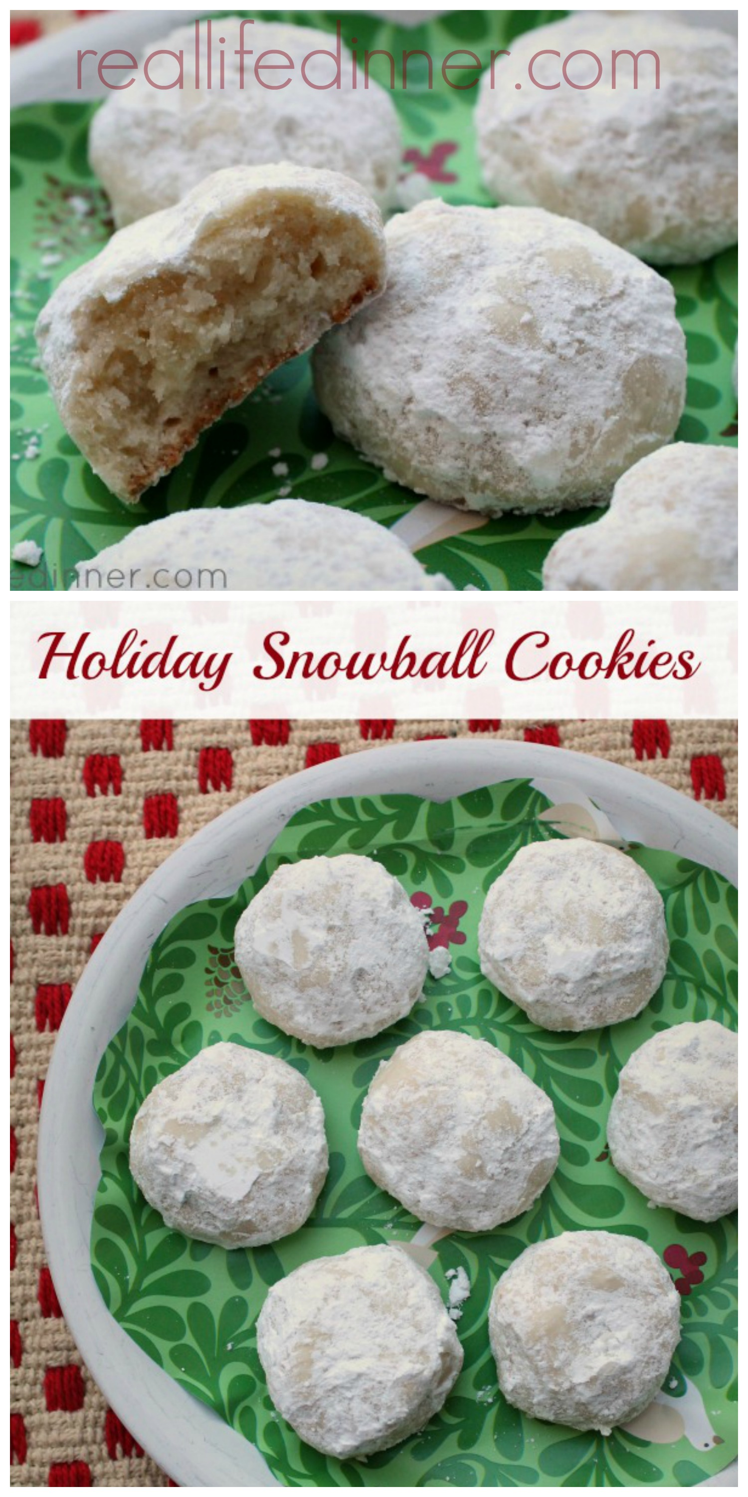 Snowball Cookie Collage