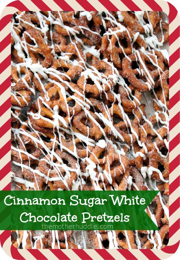 Cinnamon Sugar White Chocolate Pretzels