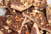 Homemade Toffee with Chocolate and Almonds