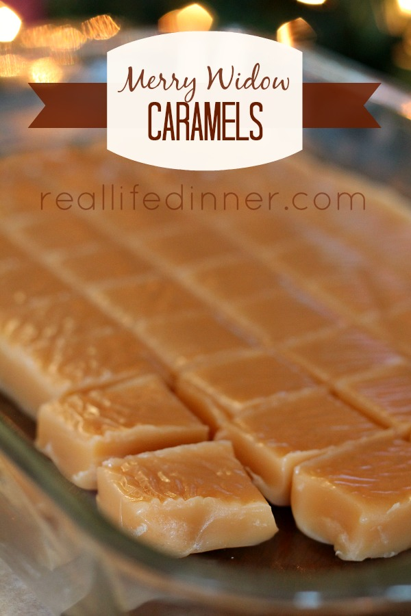 Merry Widow Caramels...Not sure where the name came from but they are DELICIOUS!