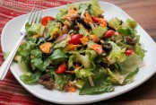 Tossed Taco Salad with Catalina Dressing {30 Minute Recipe}
