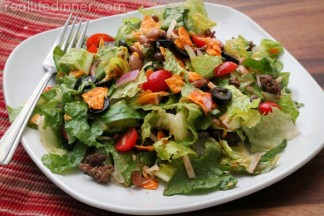 Taco Salad with Catalina Dressing {30 Minute Recipe}