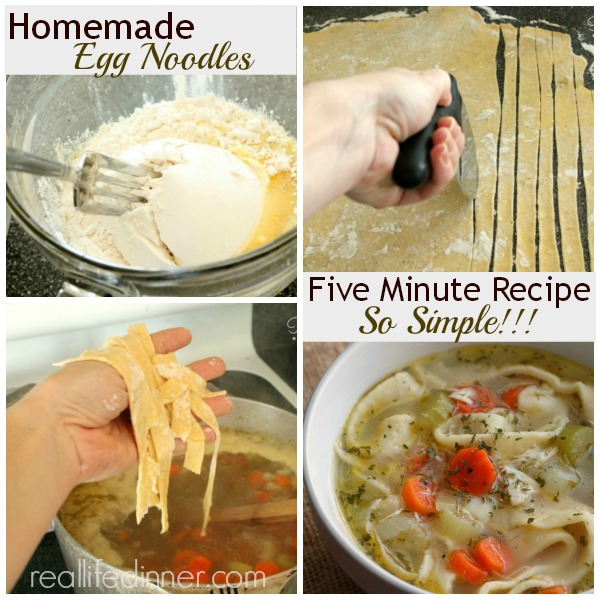 Five Minute Homemade Egg Noodle Recipe and How to Pictures 1