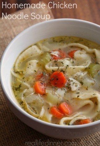 Classic Chicken Noodle Soup with Homemade Noodles