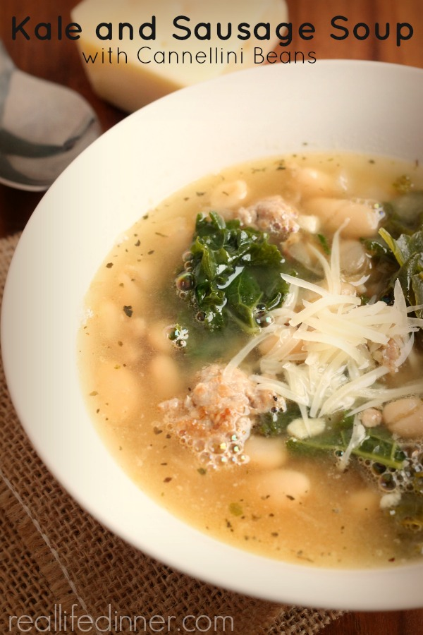 Kale and Sausage Soup with Cannellini Beans