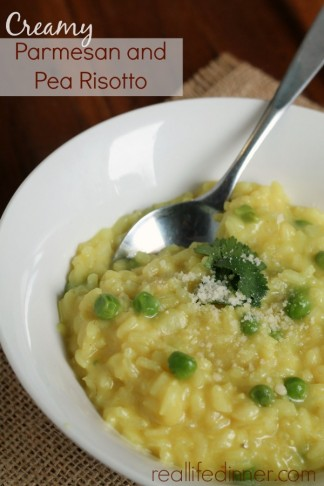 Creamy Parmesan and Pea Risotto