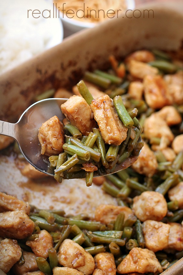 Baked Honey Curry Chicken With Green Beans 1