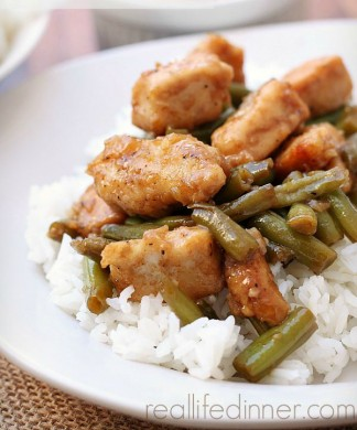 Baked Honey Curry Chicken with Green Beans
