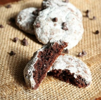Fudgy Crinkle Cookies {Only Five Ingredients}