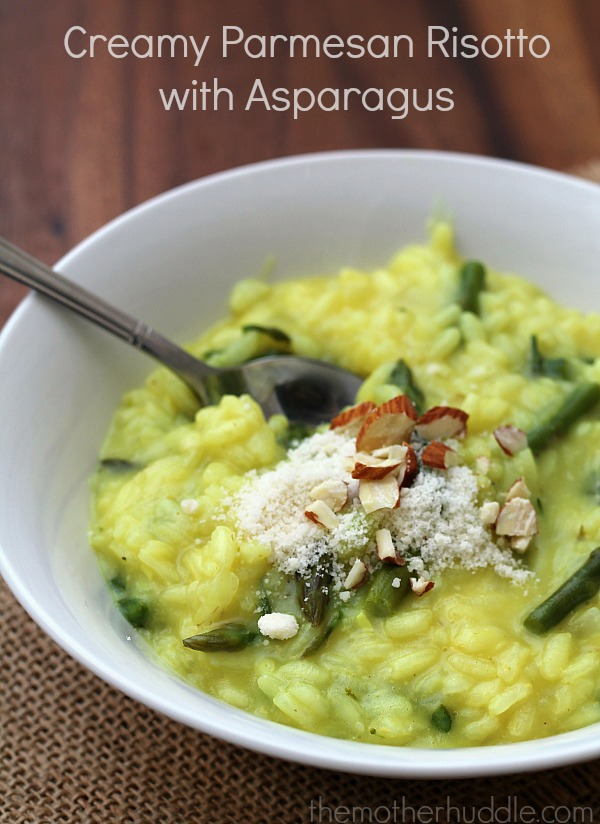 Creamy Parmesan Risotto with Asparagus