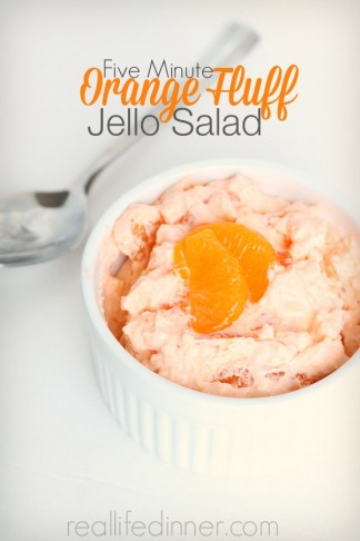 Five Minute Orange Fluff Jello Salad
