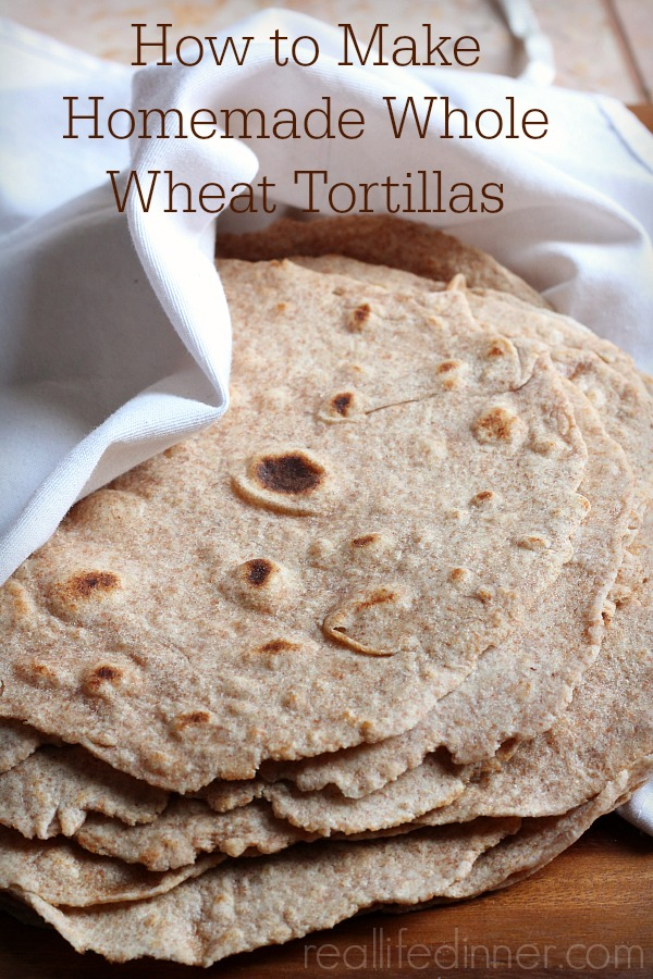 How to Make Whole Wheat Tortillas...Step by Step Pictures and Instructions