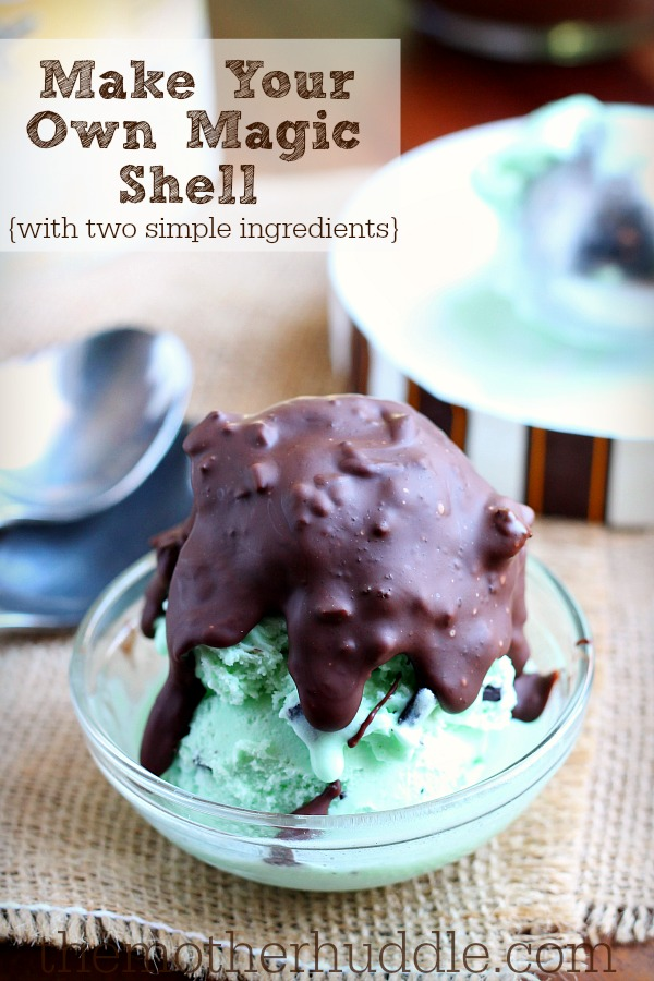 Magic Shell Topping for Ice Cream....you only need two simple ingredients