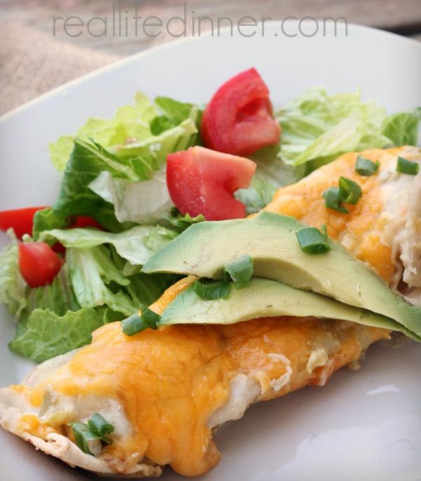 Creamy Green Chili Enchiladas