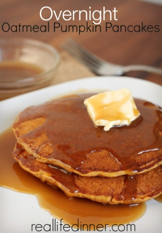 Overnight Oatmeal Pumpkin Pancakes…Healthy and Deliciously filling!
