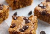 Pumpkin Chocolate Chip Snack Cake with Oatmeal and Whole Wheat Flour