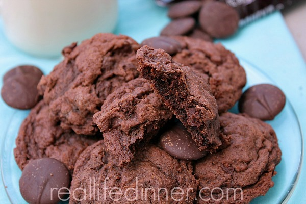 Out of this world double chocolate cookies