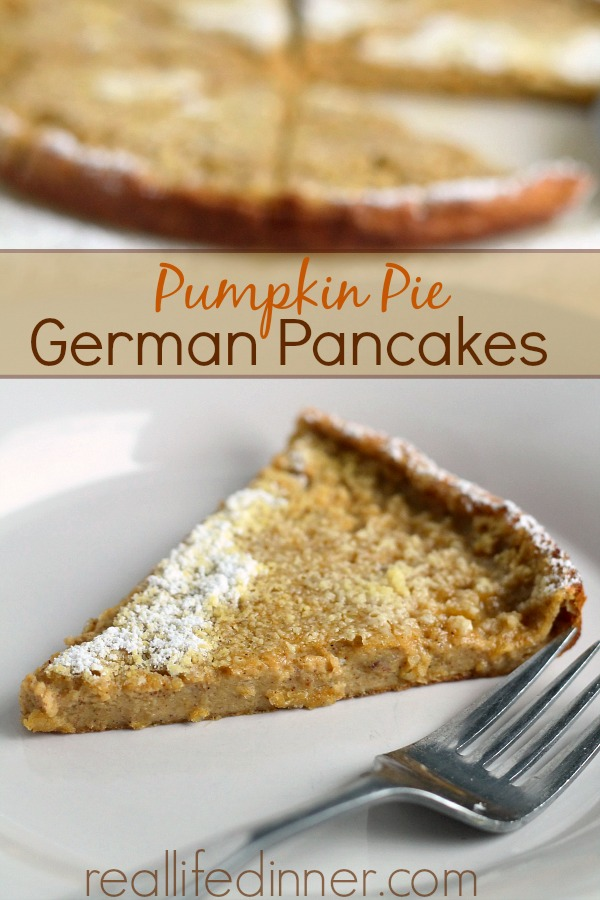 Pumpkin Pie German Pancakes
