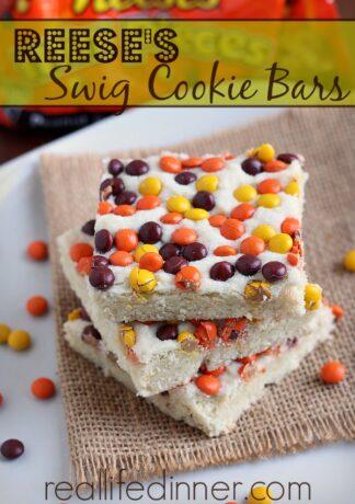 Reese's Swig Cookie Bars