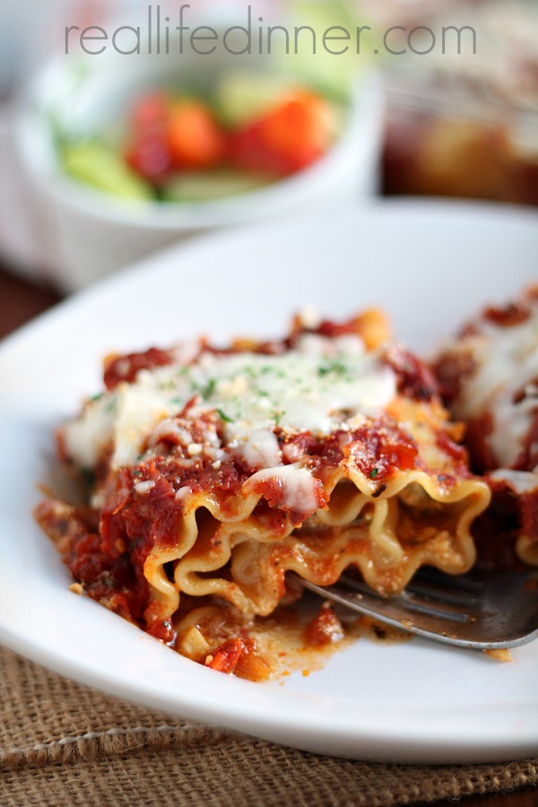 Sausage and Peppers Lasagna Roll Ups