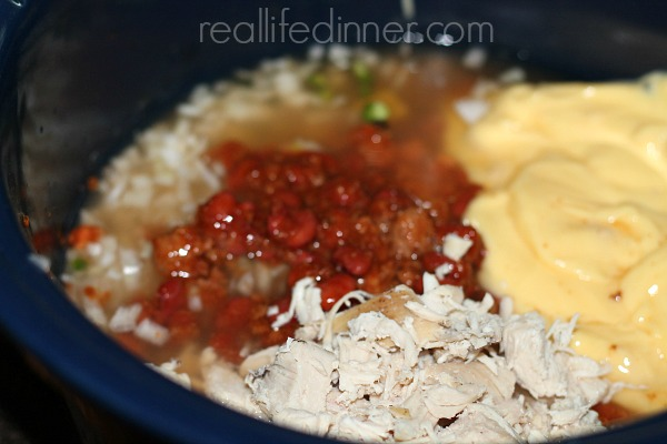 Slow Cooker Chili Chicken Casserole Recipe