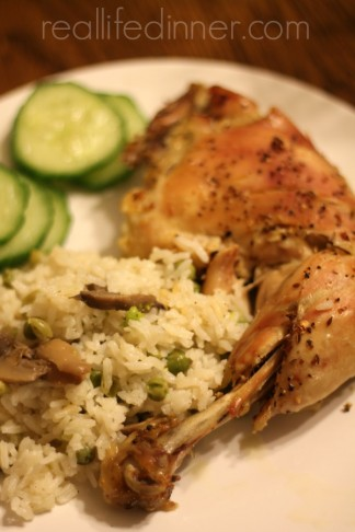 Baked Chicken and Pilaf