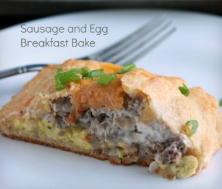 Crescent Roll Sausage and Egg Breakfast Bake