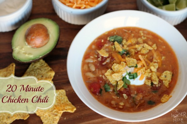 20 minute Chicken Chili