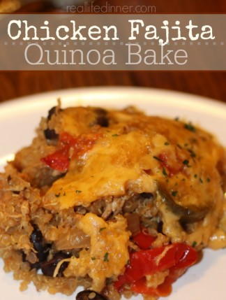 Chicken Fajita Quinoa Bake