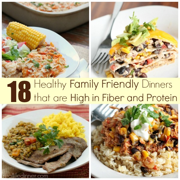 High Fiber and Protein Dinner Ideas - Real Life Dinner