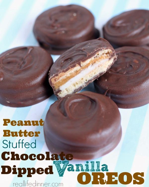 Peanut-Butter-Stuffed-Chocolate-Dipped-Vanilla-Oreos-reallifedinner.com