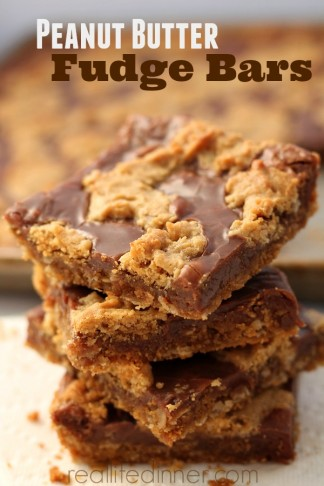 Peanut Butter Fudge Bar Recipe