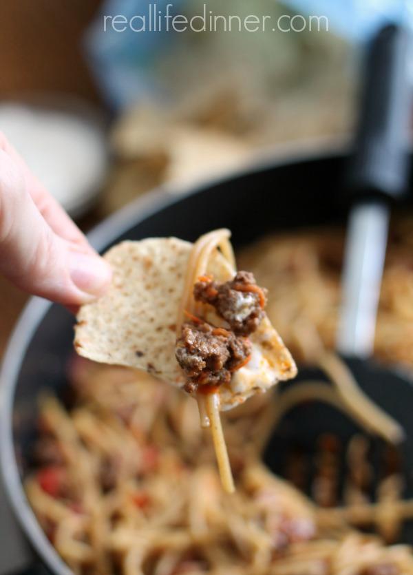 Skillet-Dinner-Taco-Spaghetti-Skillet-Recipe