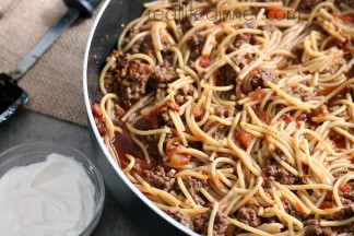 Taco Spaghetti Skillet Dinner Recipe