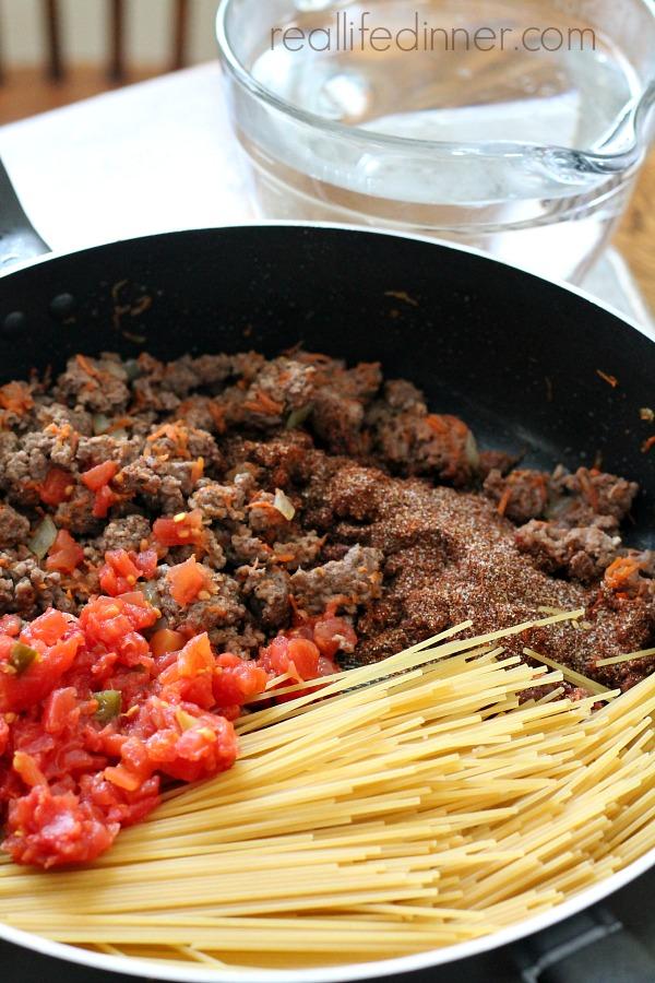 Taco-Spaghetti-Skillet-Recipe-Real-Life-Dinner