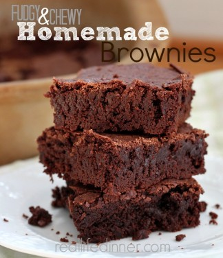 Fudgy Chewy Homemade Brownie Recipe