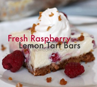 Fresh Raspberry Lemon Tart Bars